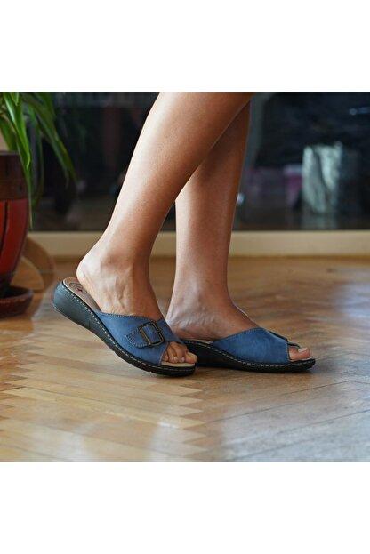 BYGURU Kadın Terlik Mavi Prodexy Iç Tabanlığı Değişebilir Tam Anatomik Günlük