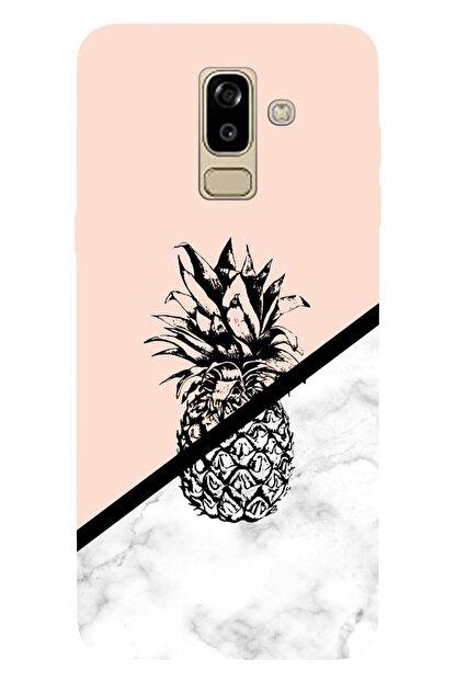 lamobil Samsung Galaxy J8 Desenli Silikon Telefon Kılıfı