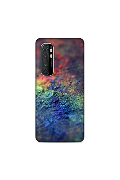 Pickcase Xiaomi Mi Note 10 Lite Kılıf Desenli Arka Kapak Renkli Toprak