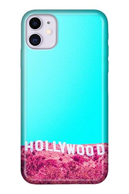 """Cekuonline Iphone 12 Mini 5.4"""" Tıpalı Kamera Korumalı Silikon Kılıf - Hollywood"""