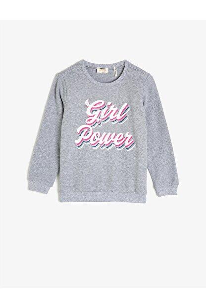 Koton Gri Kız Çocuk Sweatshirt