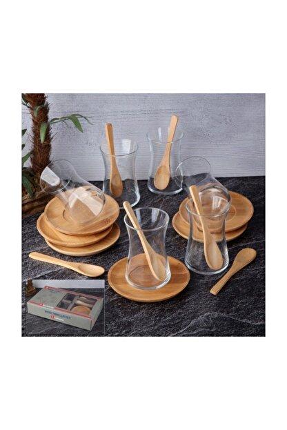 Tohana Çay Seti Bambu Tabaklı Thn99011 18 Parça