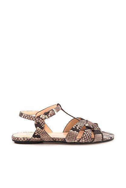 ROUGE Hakiki Deri  Kadın Groccıa Yılan Sandalet 181RGK720 0197-85