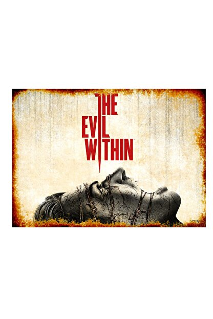 Tablomega 50cmX70cm Ahşap Tablo The Evil Within