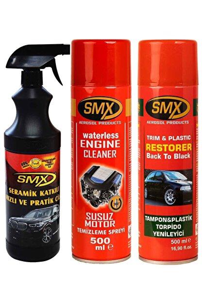 SMX Seramik Katkılı Hızlı Cila - Susuz Motor Temizleme Spreyi - Tampon Plastik Torpido Yenileyici