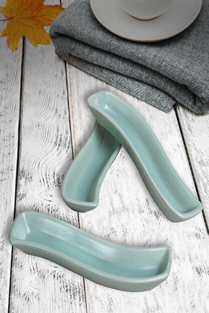 Keramika Mat Açık Yeşil İvory Zeytinlik 18 cm 3 Adet