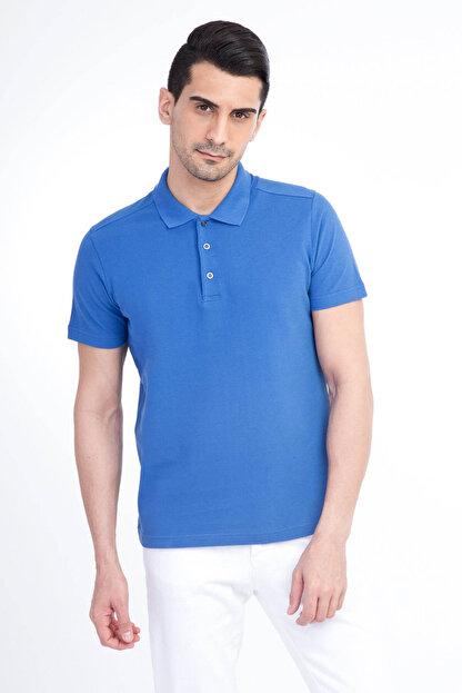 Kiğılı Erkek Mavi Polo Yaka T-Shirt - Cdee1-4