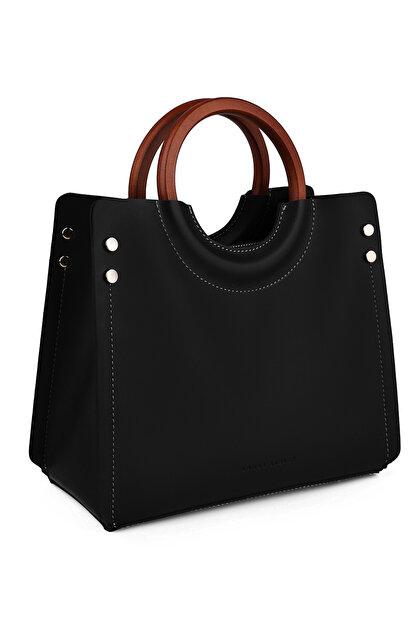 Laura Ashley Kadın Ahşap Askılı Çanta Siyah
