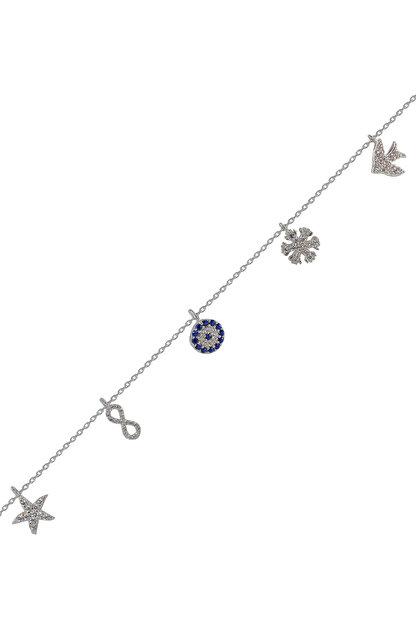 Söğütlü Silver Kadın 925 Ayar Gümüş Şans Bilekliği SGTL4488