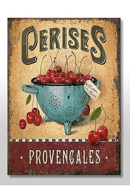 Cakatablo 50cmX70cm Ahşap Tablo Provence Kirazı Afişi Görseli