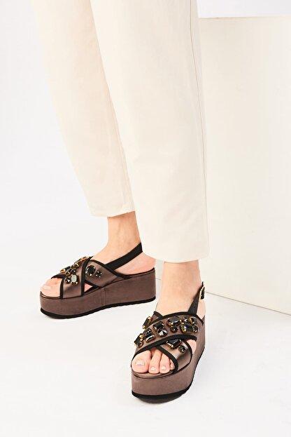 İnci Haki Kadın Sandalet 120130005620