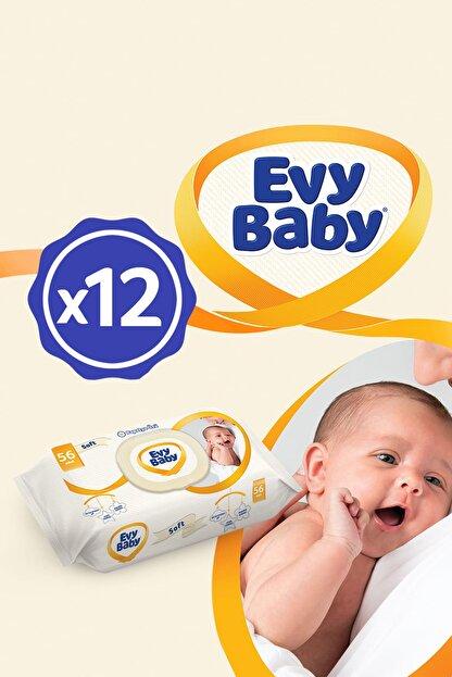 Evy Baby Islak Havlu Soft 12'Li Islak Mendil 672 Yaprak