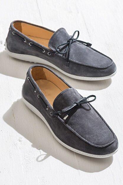 Elle TEON Hakiki Deri Gri Erkek Ayakkabı