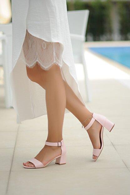 Pembe Potin Pudra Kadın Klasik Topuklu Ayakkabı A190-19