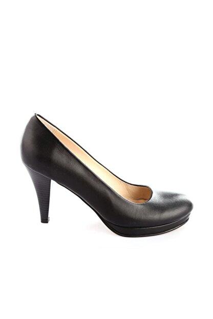Dgn Siyah Kadın Klasik Topuklu Ayakkabı 714-148