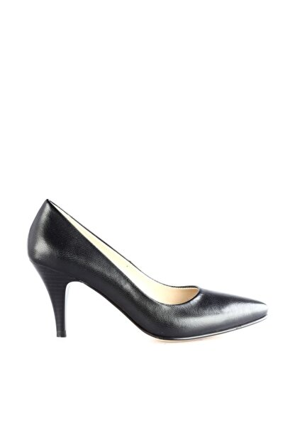 Dgn Siyah Kadın Klasik Topuklu Ayakkabı 304-127