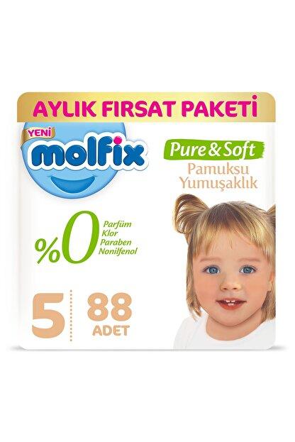 Molfix Pure&Soft Bebek Bezi 5 Beden Junior Aylık Fırsat Paketi 88 Adet