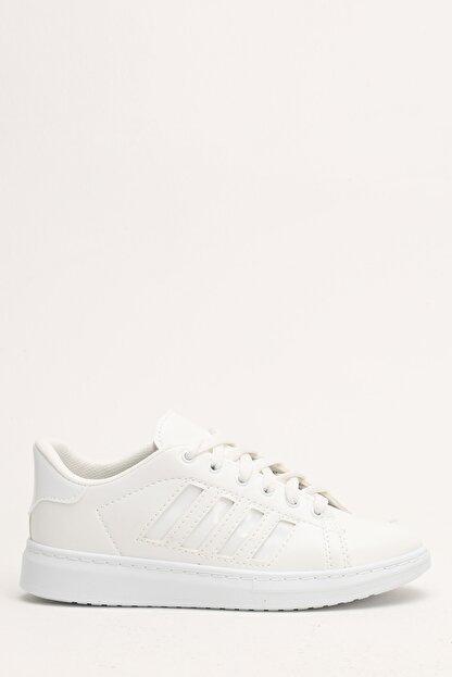 Ayakkabı Modası Beyaz Kadın Spor Ayakkabı M4000-19-101002R