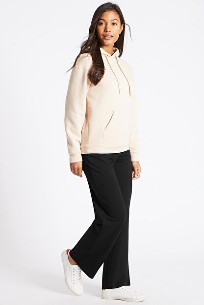 Marks & Spencer Kadın Siyah Pamuklu Eşofman Altı T57006660