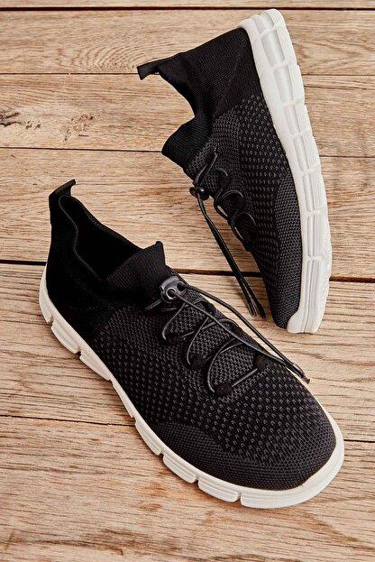 Bambi Siyah Gri Kadın Sneaker K01816027182