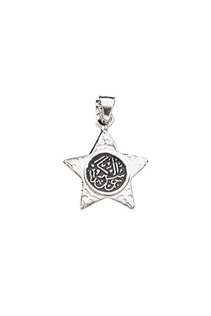 Silverella Gümüş 925 Ayar Yıldız Cevşen Kolye Ucu