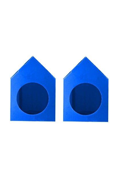 Mascot Su Geçirmez Mavi Renk  Demonte Plastik Kedi Evi - 2 Adet