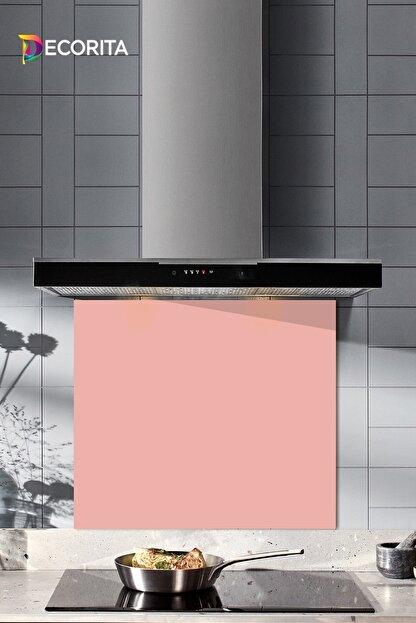Decorita Düz Renk - Somon | Cam Ocak Arkası Koruyucu   |   52cm x 60cm