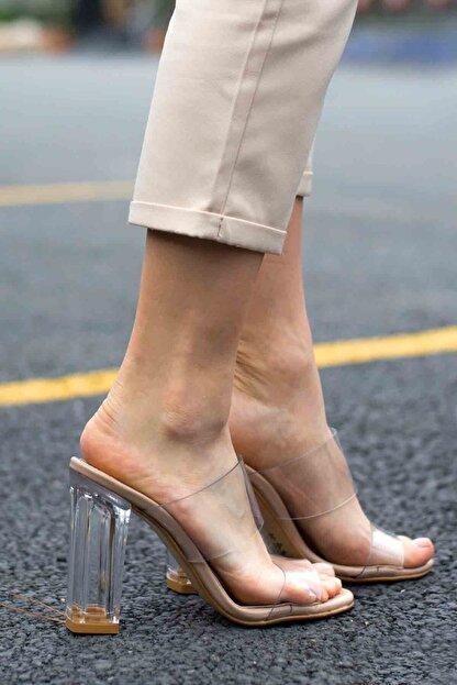 Gökçe Shoes SEHHER ŞEFFAF NUDE TOPUKLU TERLİK