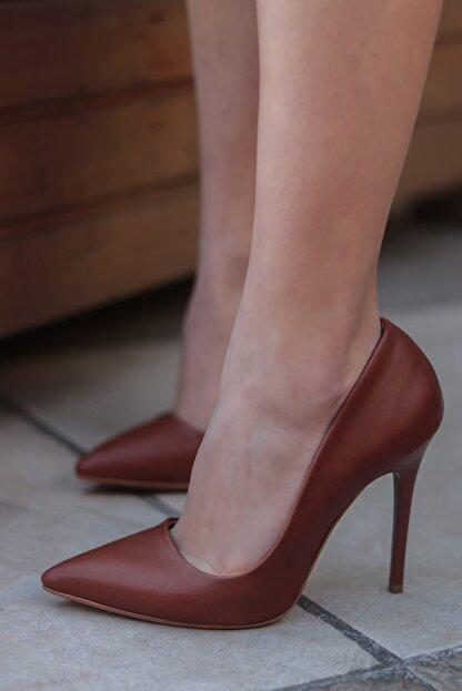 TRENDBU AYAKKABI Kahverengi Kadın Topuklu Ayakkabı
