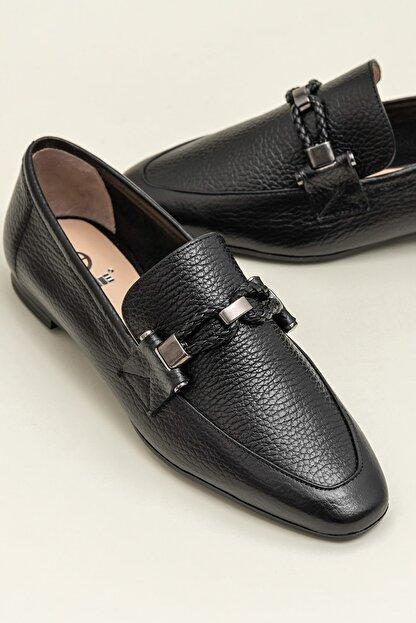 Elle ESTEFANY-1 Deri Siyah Kadın Ayakkabı