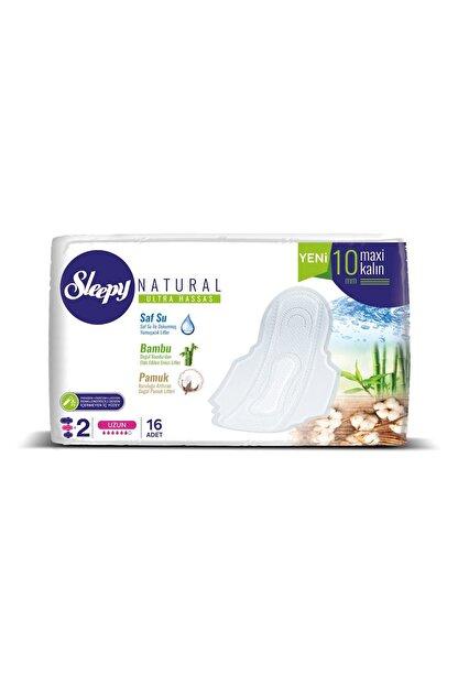 Sleepy Natural Ultra Hassas Maxi Kalın Uzun Süper Eko 16 Adet