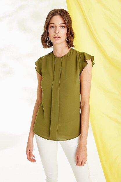 Journey Kadın Zeytin Yeşili Bluz 19YBLZ804