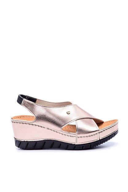 Derimod Platin Rengi Kadın Sandalet