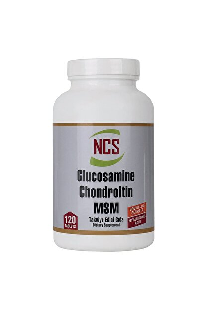 Ncs Glucosamine 120 Tablet Chondroitin Msm Hyaluronic Acid