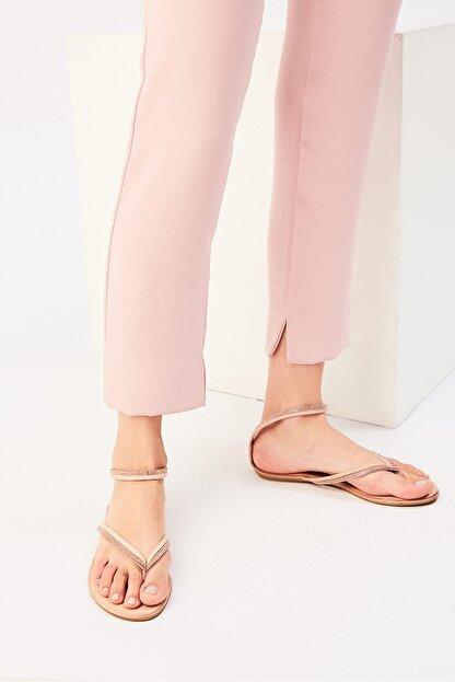 İnci Hakiki Deri Açık Pembe Kadın Sandalet 120130002445