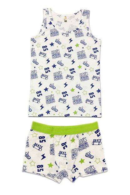 ÖZKAN underwear Erkek Çocuk Desenli İç Giyim Takım