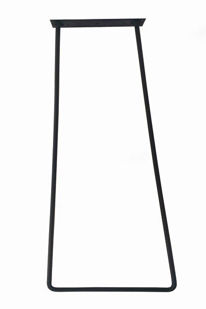Wooden Gold Geniş Tabanlı Daha Az Ayak Kullanılan Model Siyah Rustik Tarz Üçlü Model Masa Sehpa Ayağı 80 cm