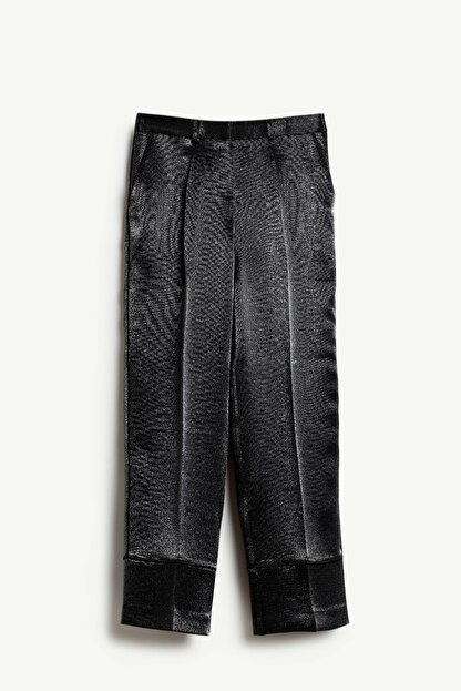 Yargıcı Kadın Siyah Biye Detaylı Pantolon 9KKPN3127X