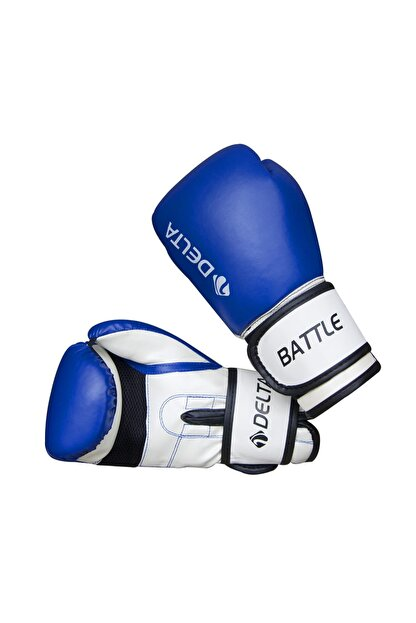 Delta Battle Dura-Strong Mavi-Beyaz Boks Eldiveni