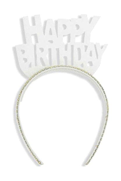 TT Tahtakale Toptancıları Evadan Taç Simli Taşlı Happy Birthday Yazılı  Beyaz