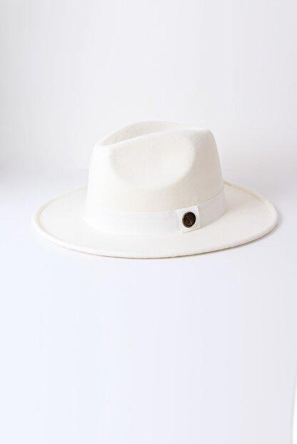 Kapin Beyaz Fötr Şapka
