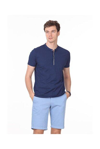 Ramsey İndigo Düz Örme T - Shirt RP10113919
