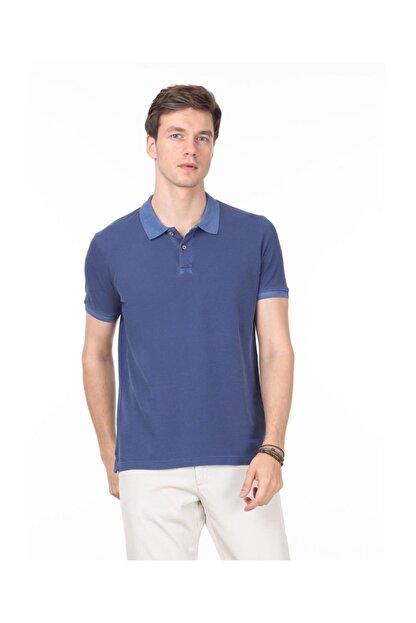 Ramsey İndigo Düz Örme T - Shirt RP10113908