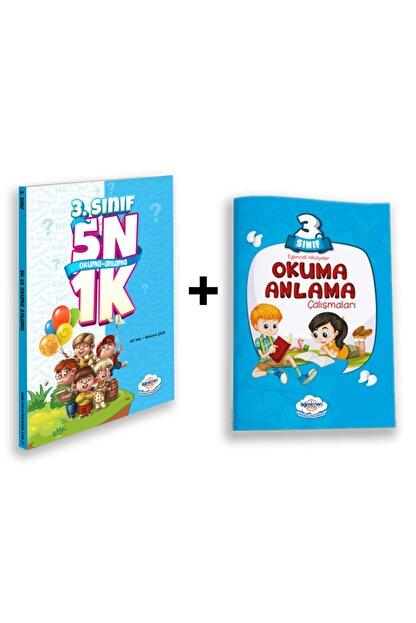 Öğretmen Evde İlkokul Yayınları 3.sınıf 5n1k Okuma Anlama Kitabı + 3.sınıf Okuma Anlama Kitabı - Öğretmen Evde Yayınları