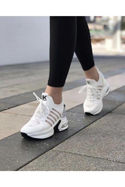Guja Kadın Beyaz Gizli Topuk Yüksek Taban Sneaker