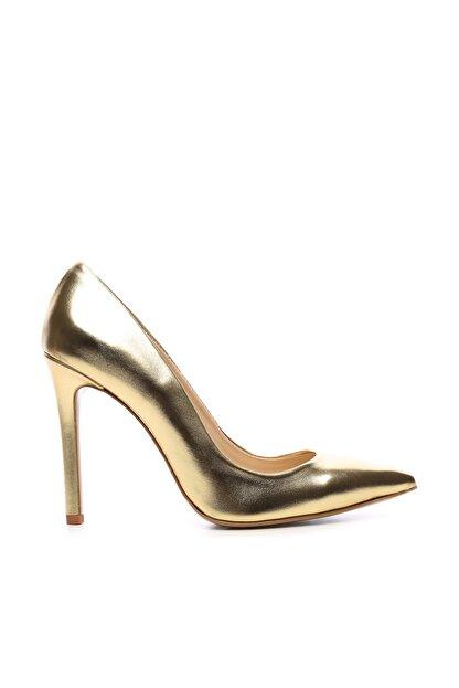 Kemal Tanca Sarı Kadın Vegan Klasik Topuklu Ayakkabı 22 51191 BN AYK Y19