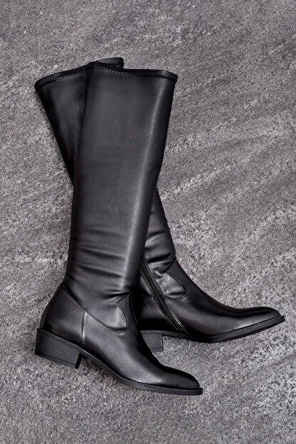 Elle ELIJA Hakiki Deri Kadın Siyah Çizme