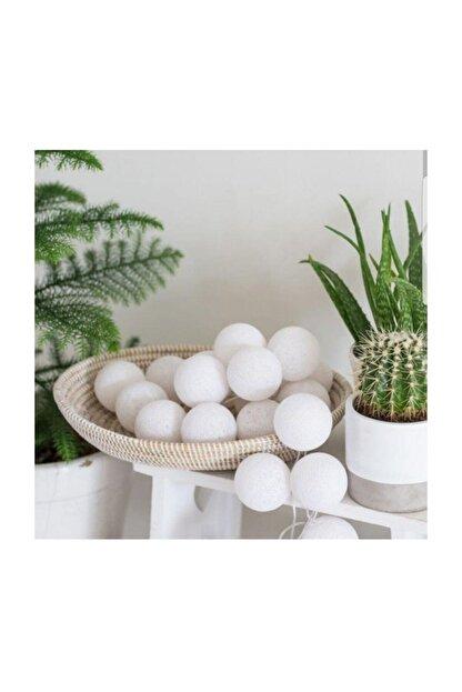 Ledim Doğum Günü Işıklı Top Aydınlatma 3 Metre 10'lu Set Montessorı - Beyaz