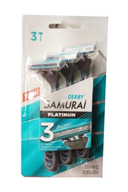 Derby Samurai Platinum 3 Bıçaklı Isveç Çeliği 3'lü