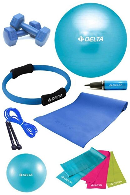 Delta 4 MM Minderli PTS Turkuaz Full Pilates Seti ( 65 cm - 20 cm )